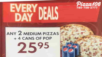 pizza106 everyday deals